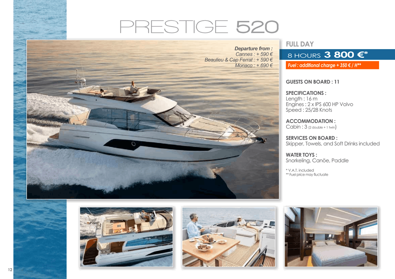 16 motor yachts for a day charter at sea on the French Riviera, Monaco and Saint Tropez 25