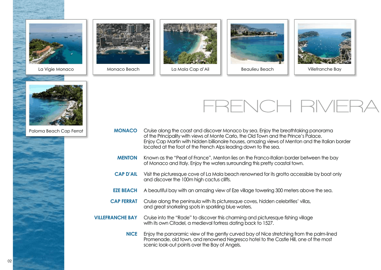 16 motor yachts for a day charter at sea on the French Riviera, Monaco and Saint Tropez 3
