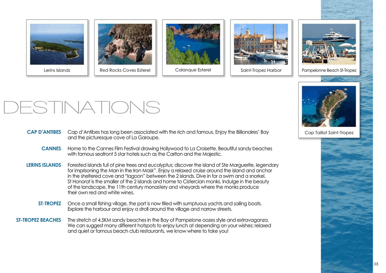 16 motor yachts for a day charter at sea on the French Riviera, Monaco and Saint Tropez 4